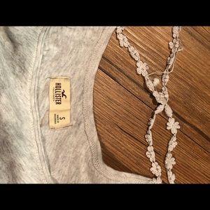 gray crop t shirt